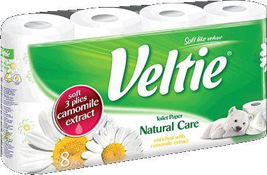 KLEENEX Welcomes Veltie Toaletní papír 8 rolí, 3-vrstvý, heřmánek 148551