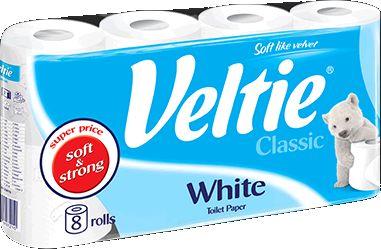 KLEENEX Welcomes Veltie Toaletní papír 8 rolí, 2-vrstvý, bílý 148552