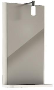 KOLO Rekord zrcadlo s osvětlením, 38,3 x 60,5 cm, lesklá bílá 88417