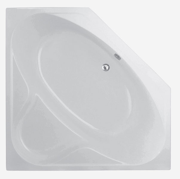 TEIKO Vana Kréta rohová 140x140 cm, akrylátová, bílá V111140N04T02001