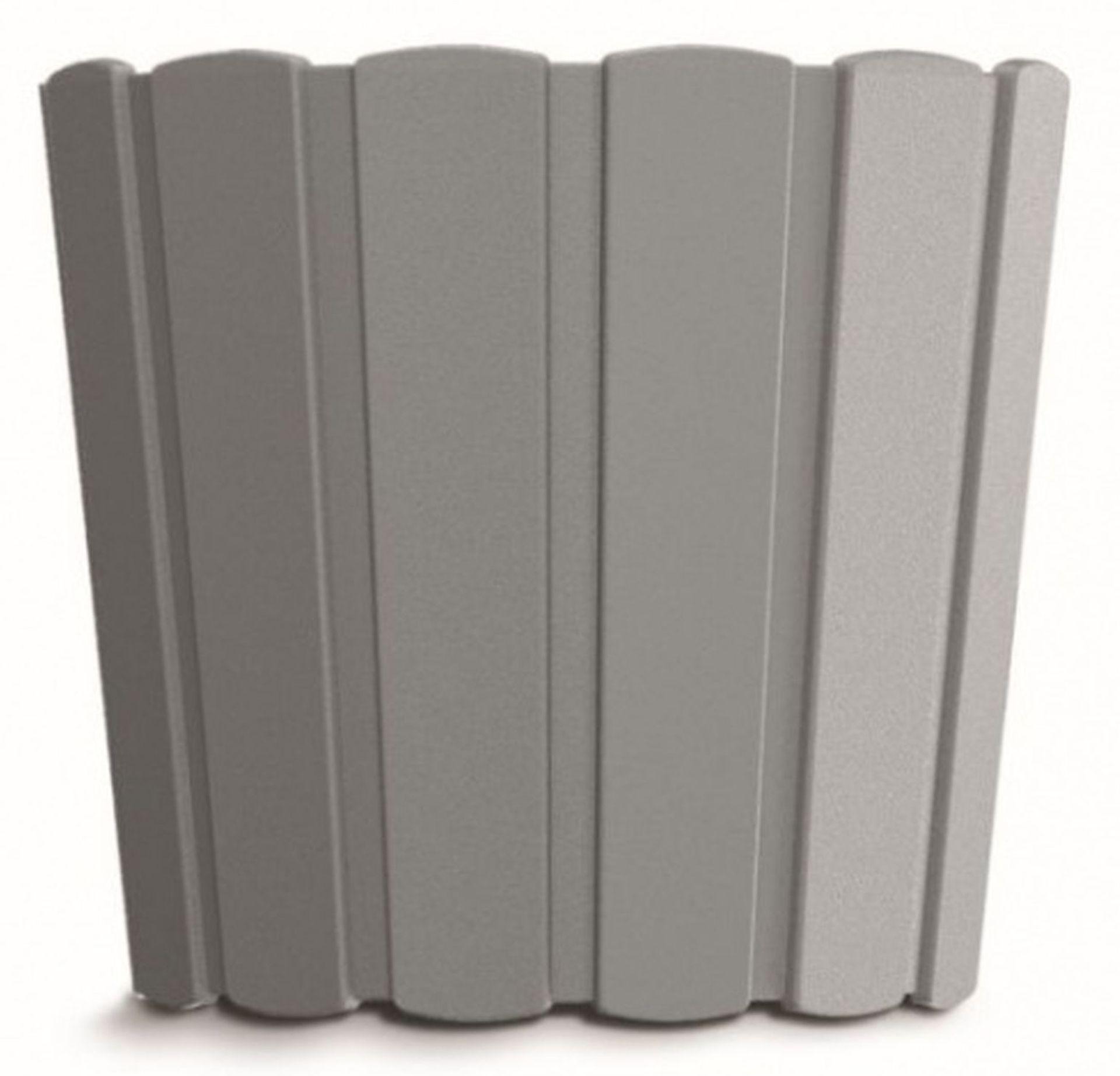 PROSPERPLAST BOARDEE BASIC Květináč 23,9 cm, šedý kámen DDE240