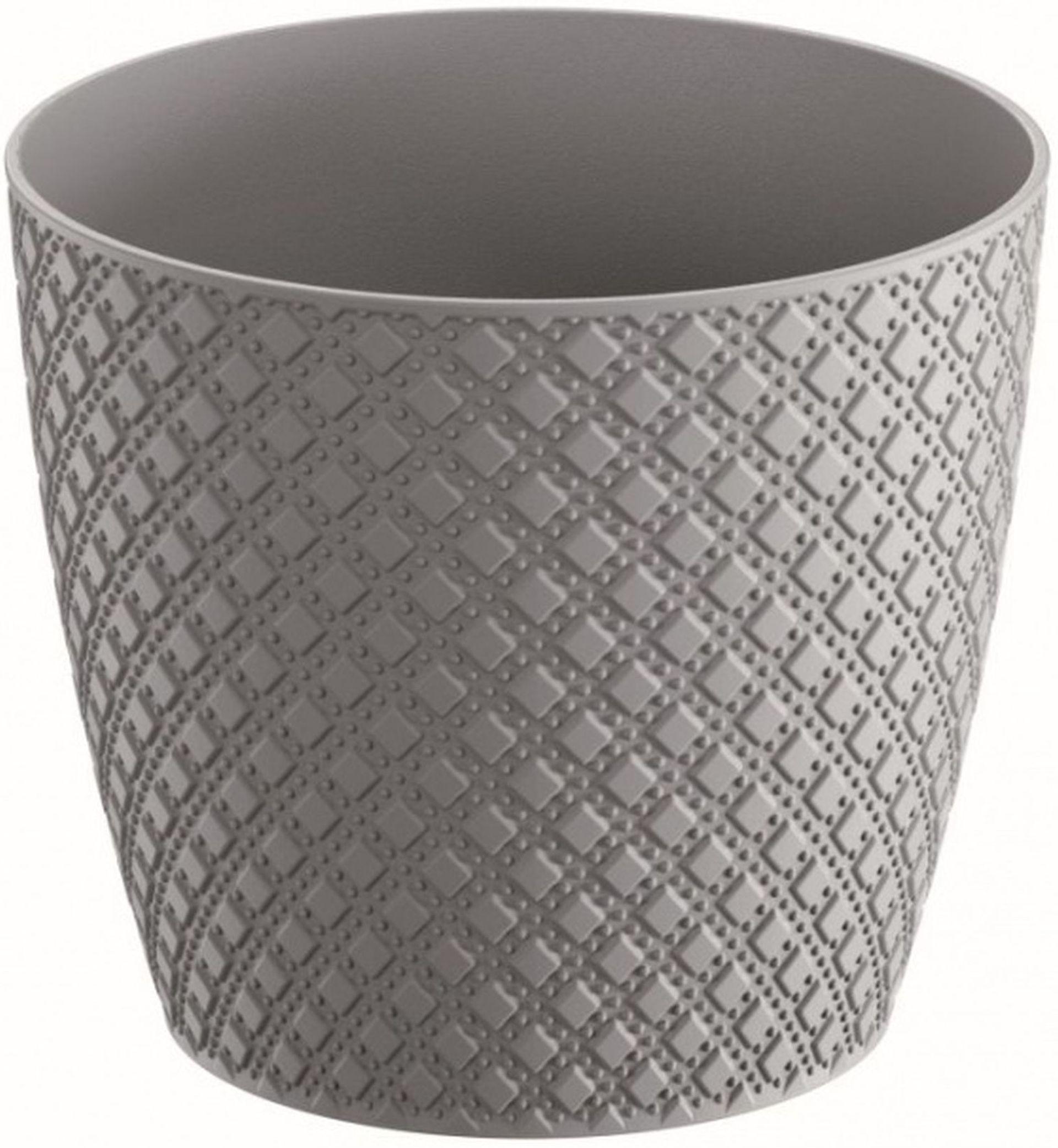 Prosperplast ORIENT Květináč 25,8 cm, šedá kámen DOR260