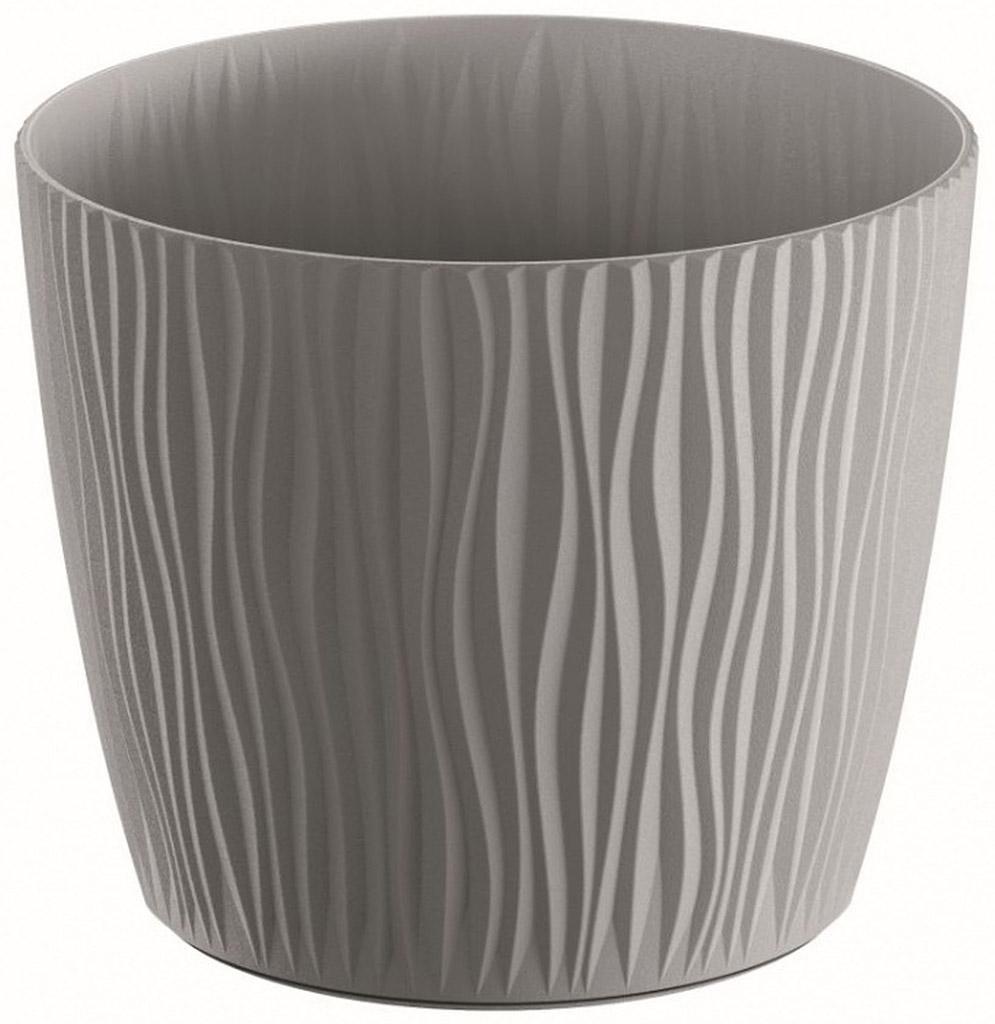 PROSPERPLAST SANDY Květináč 14,9 cm, šedý kámen DSY150