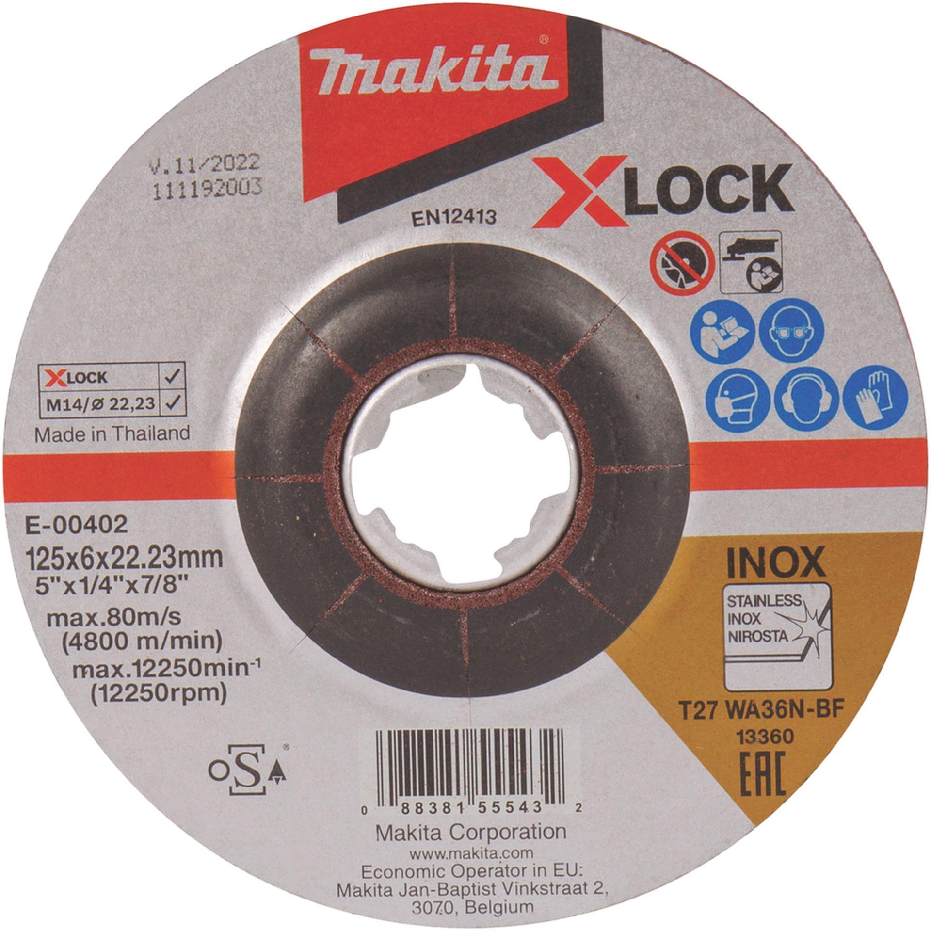 MAKITA E-00402 X-LOCK Brusný kotouč na nerez 125x6x22,23mm