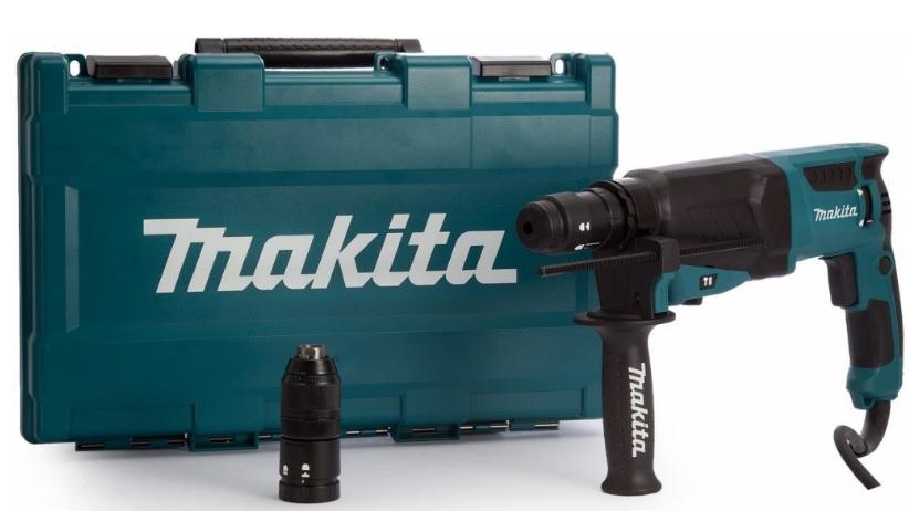 MAKITA HR2630T SDS-Plus Kombinované kladivo s výměnným sklíčidlem v kufru 2,4J, 800W