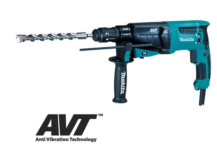 MAKITA Kombinované kladivo s AVT 2,4J,800W HR2631F