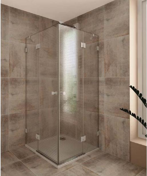 TEIKO NSKRH 2/90 sprchový kout čtvercový čiré sklo V333090N52T12003