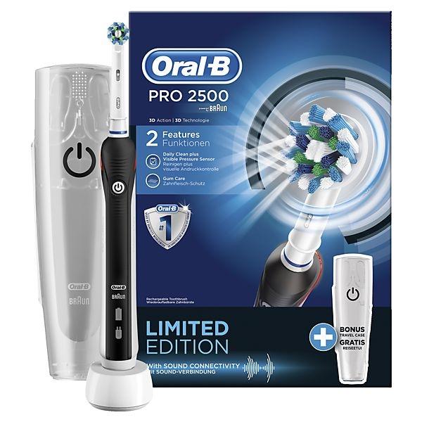 Oral-B PRO 2500 Black elektrický zubní kartáček