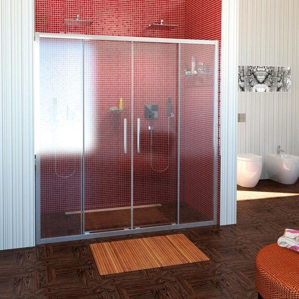 POLYSAN LUCIS LINE sprchové dveře 1500mm, čiré sklo