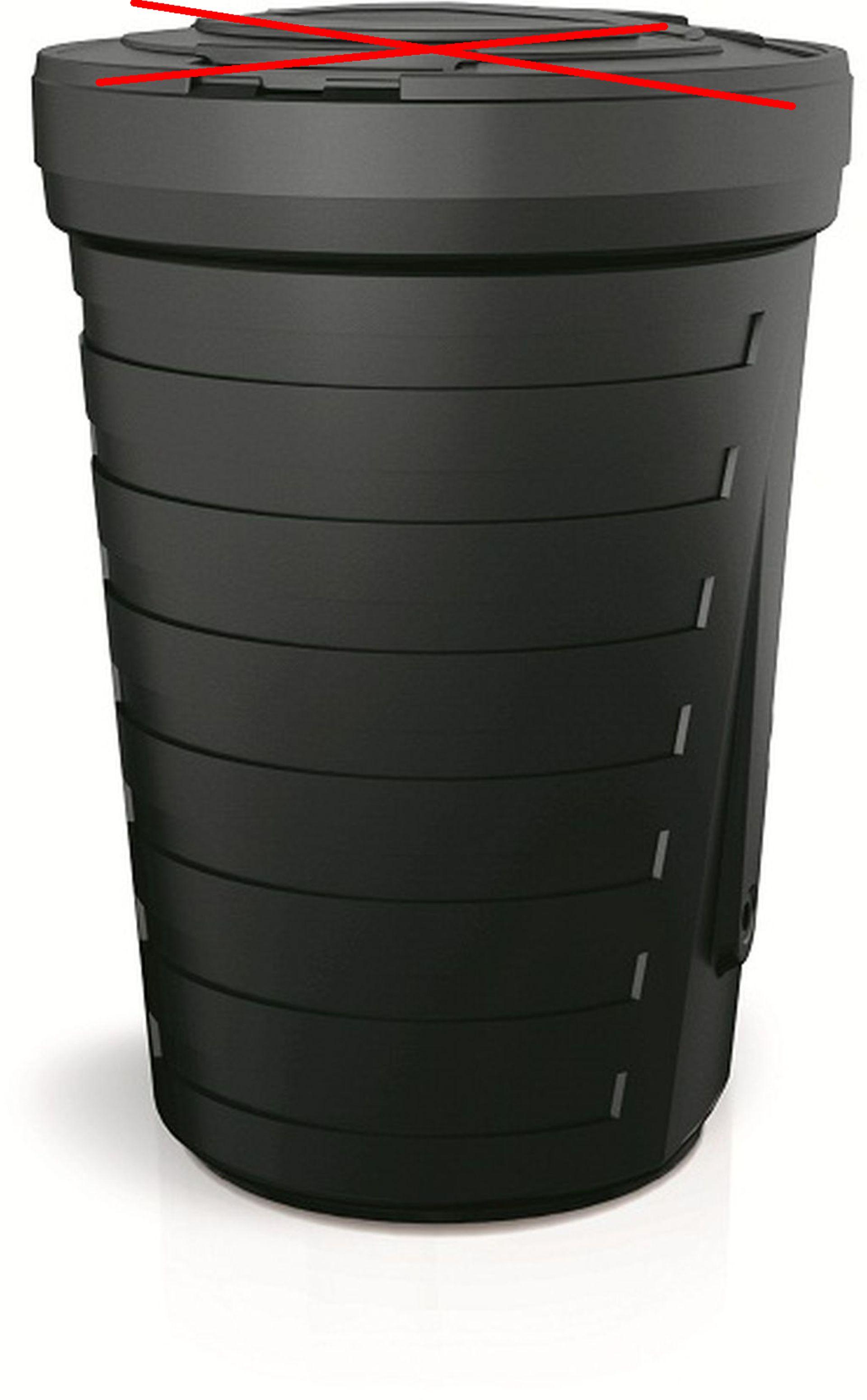 Prosperplast RAINCAN sud na dešťovou vodu 210l, černý IDRA210