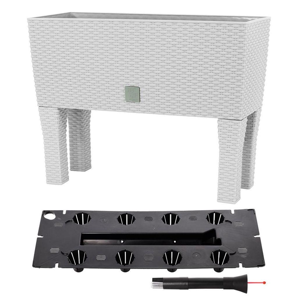 Prosperplast RATO CASE HIGH Truhlík+zavlažovací systém 60x25x46cm bílý DRTC600H