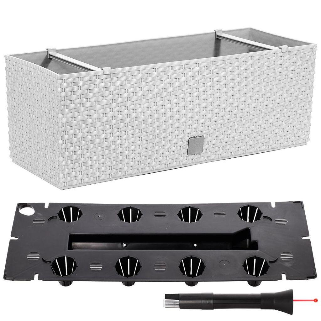 Prosperplast RATO CASE Truhlík +zavlažovací systém 60x25x24cm bílý DRTC600