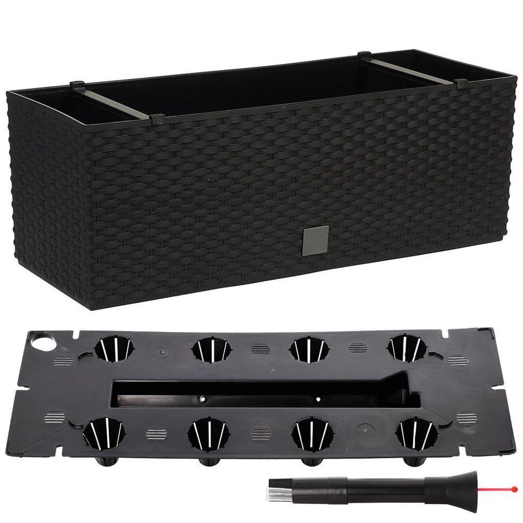 Prosperplast RATO CASE Truhlík +zavlažovací systém 80x33x32cm antracit DRTC800