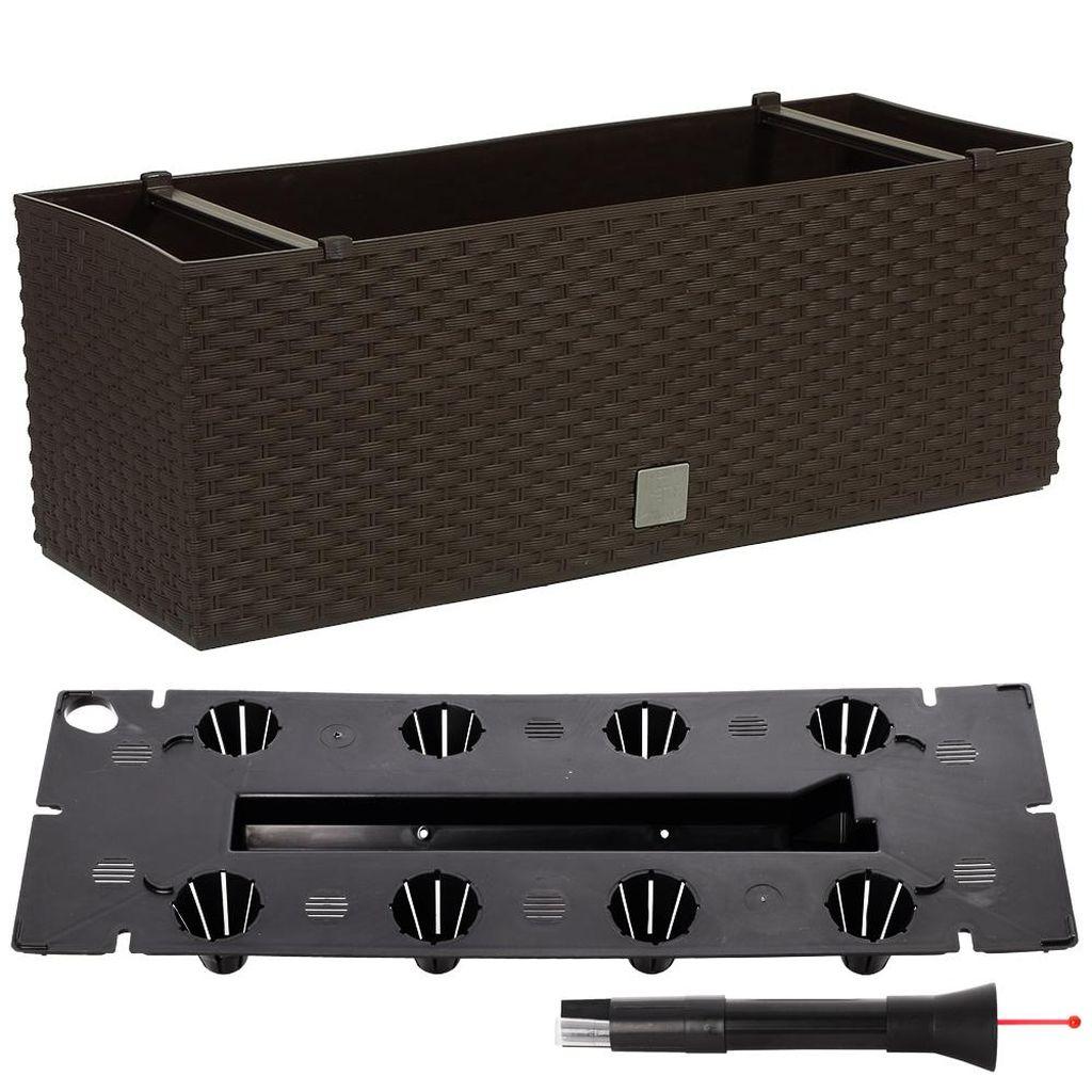 Prosperplast RATO CASE Truhlík +zavlažovací systém 80x33x32cm umbra DRTC800