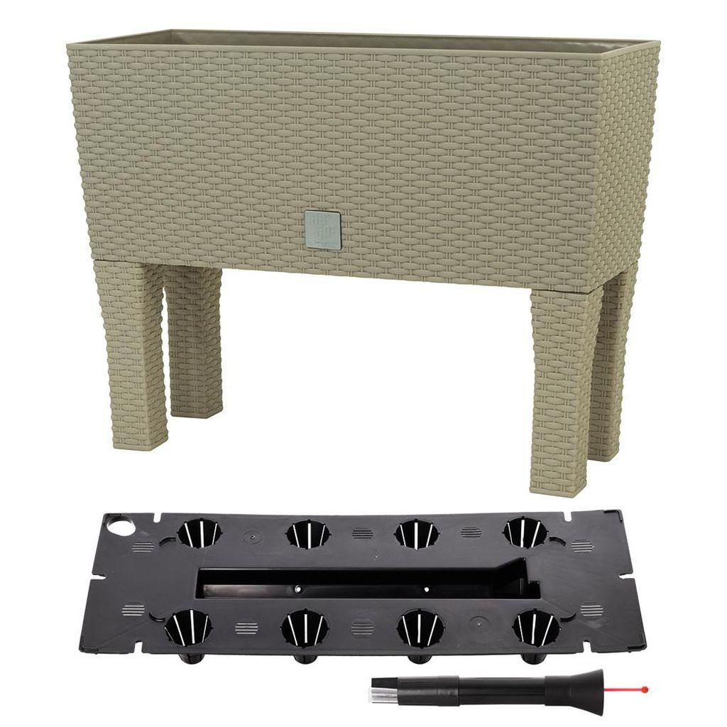 Prosperplast RATO CASE HIGH Truhlík+zavlažovací systém 80x33x65cm mocca DRTC800H