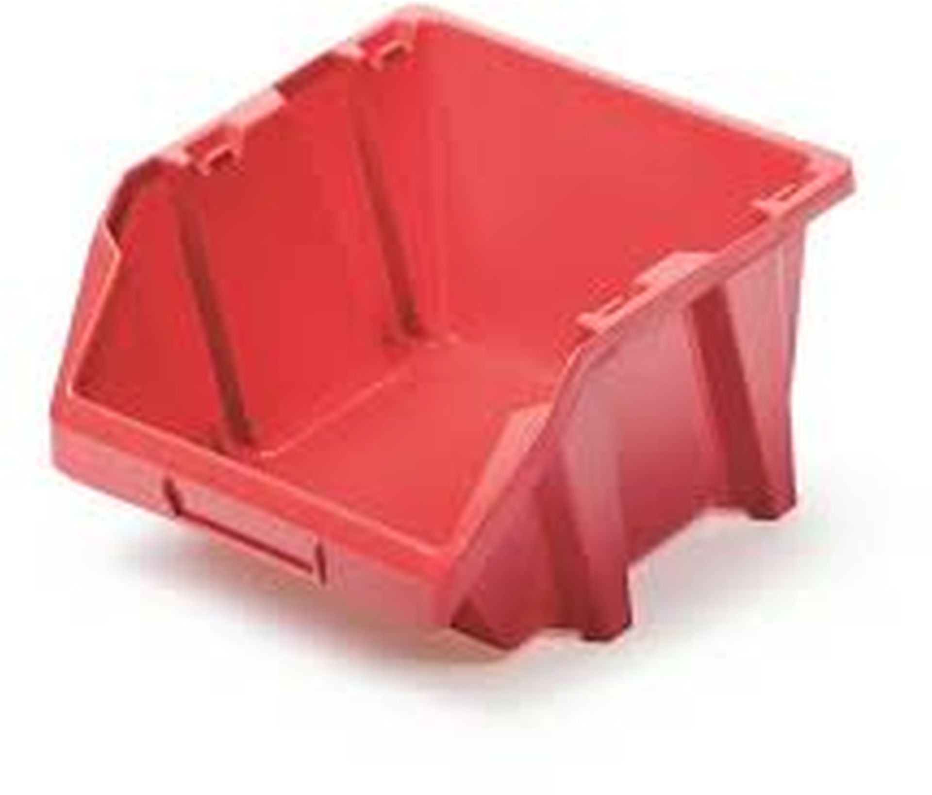 Prosperplast BINEER SHORT Plastový úložný box 92x77x60mm, červená NPNS4