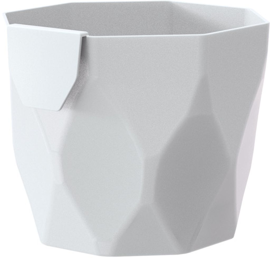 PROSPERPLAST ROCKA Květináč 12,6 cm, bílá DROC125