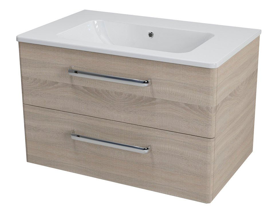 SAPHO PURA umyvadlová skříňka 77x50,5x49cm, dub starmood PR082