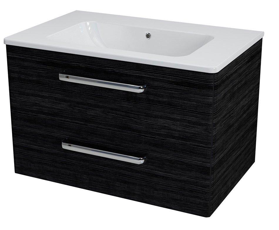 SAPHO PURA umyvadlová skříňka 77x50,5x49cm, graphite line PR083