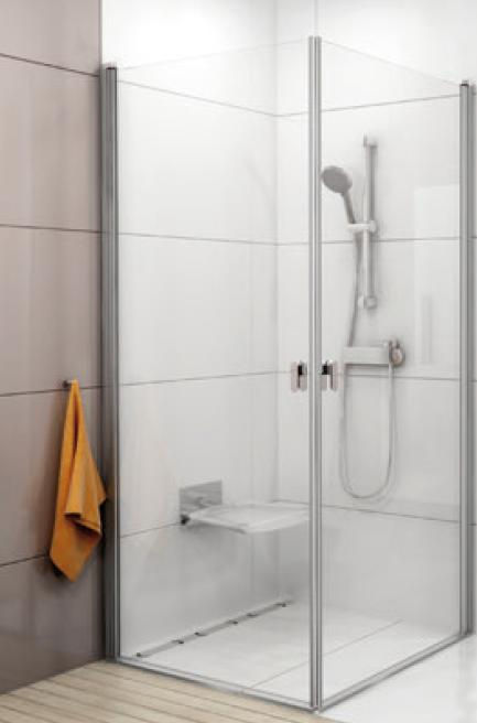 RAVAK Chrome CRV1-100 sprchové dveře, white+Transparent 1QVA0101Z1
