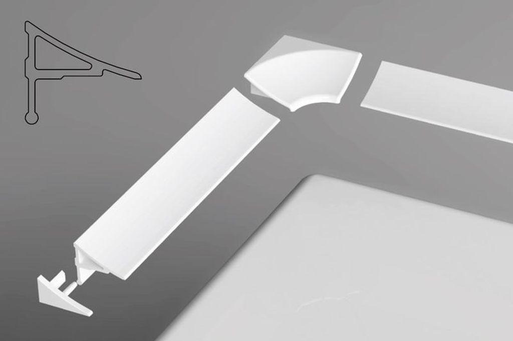 RAVAK Krycí lišta vanová, vaničková 11/1100 white 110 cm XB461100001