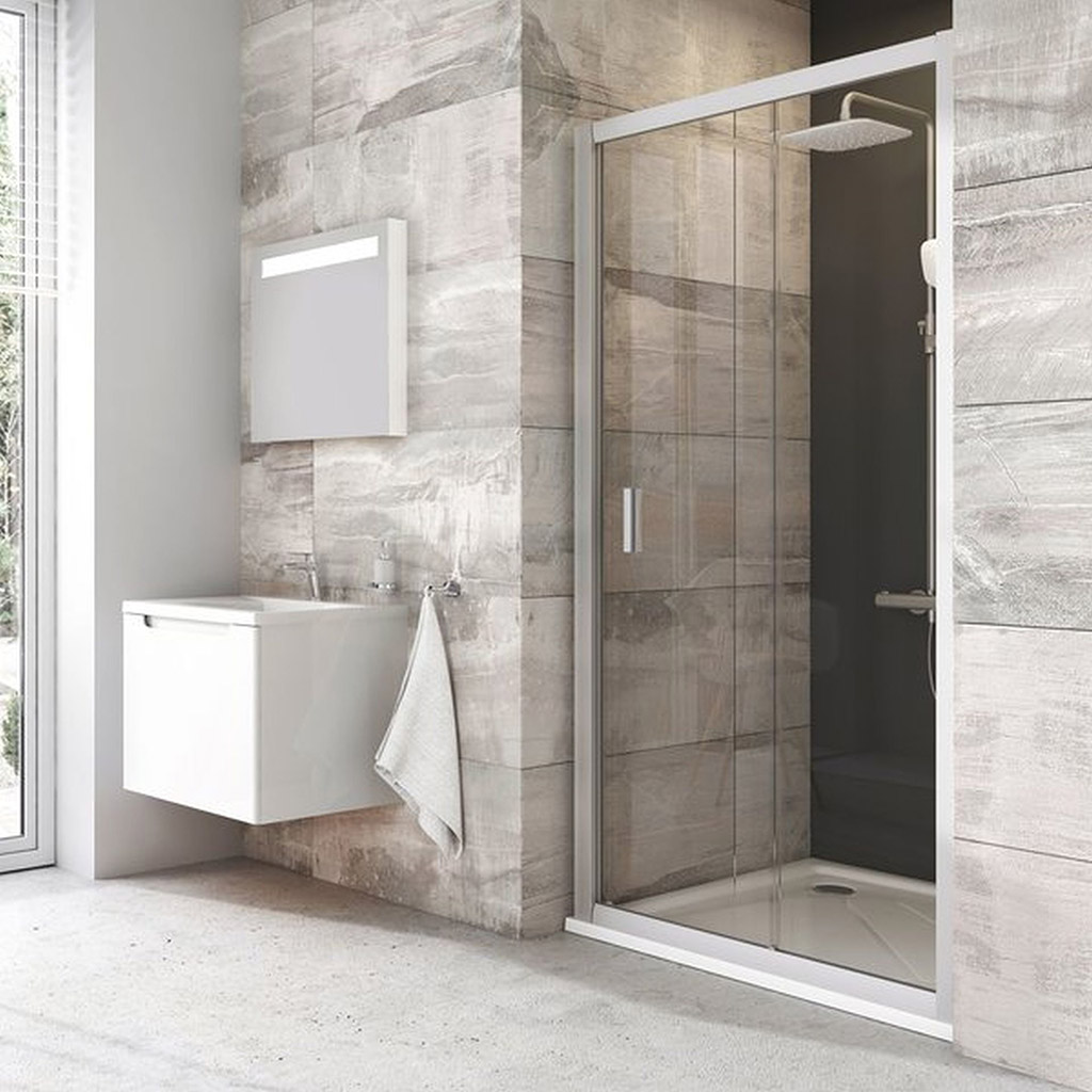 RAVAK Blix BLDP2-100 sprchové dveře posuvné dvoudílné, satin+Grape 0PVA0U00ZG