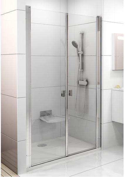 RAVAK CHROME CSDL2-90 sprchové dveře, satin+Transparent 0QV7CU0LZ1