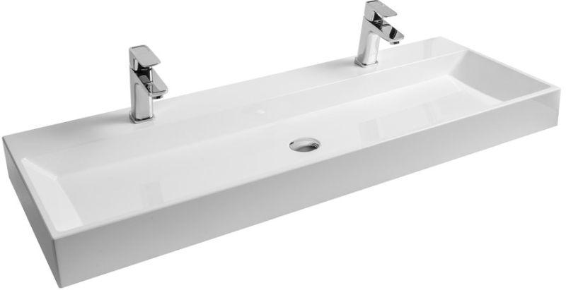 RAVAK NATURAL DUO 1200 Umyvadlo 120 x 45 cm, bílé XJO01212000