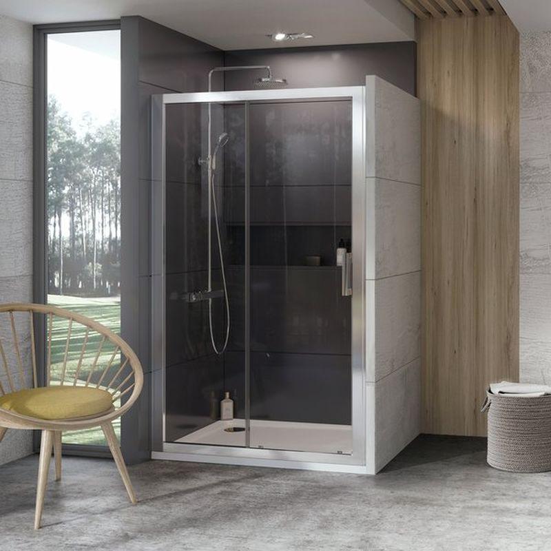 RAVAK 10° 10DP2 Sprchové dveře 100 x 190 cm, Satin 0ZVA0U00Z1