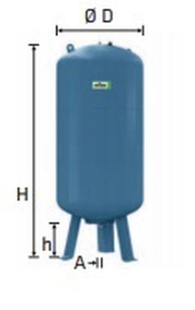 Refix expanzní nádoba DE/80/16 modrá