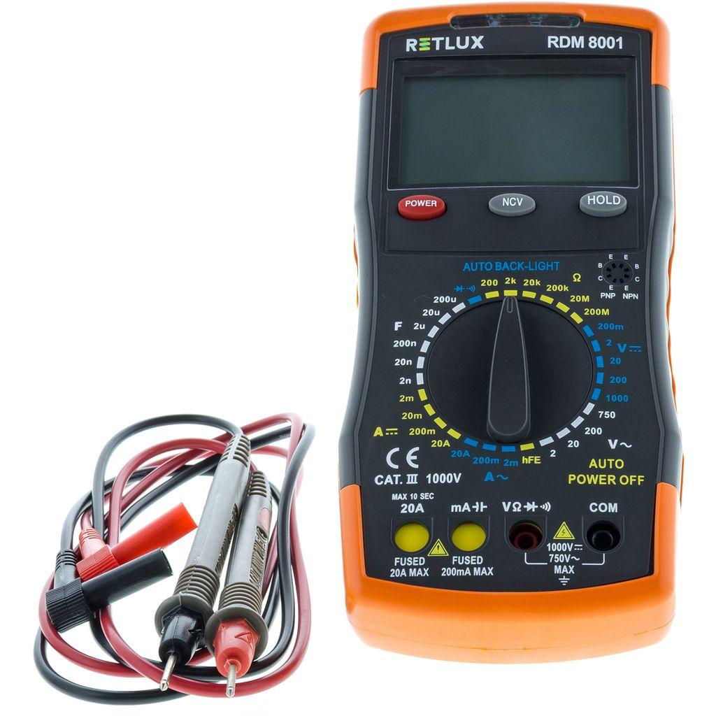 RETLUX RDM 8001 Digitální multimetr 50002707