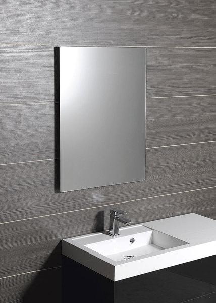 SAPHO PLAIN zrcadlo 50x70cm, bezpečnostní zakulacené rohy, bez závěsu 1501-25