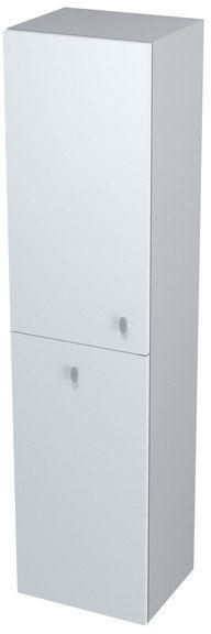 SAPHO AILA 55649 skříňka vysoká s košem 35x140x30cm, levá, bílá/stříbrná
