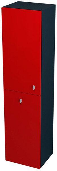 SAPHO AILA 55671 skříňka vysoká s košem 35x140x30cm, levá, červená/černá
