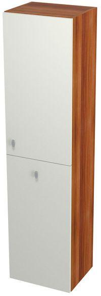 SAPHO AILA 55673 skříňka vysoká s košem 35x140x30cm, pravá, vanilka/švestka