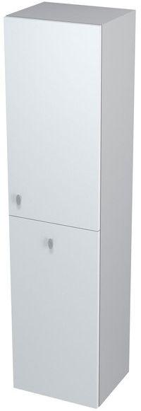 SAPHO AILA 55674 skříňka vysoká s košem 35x140x30cm, pravá, bílá/stříbrná