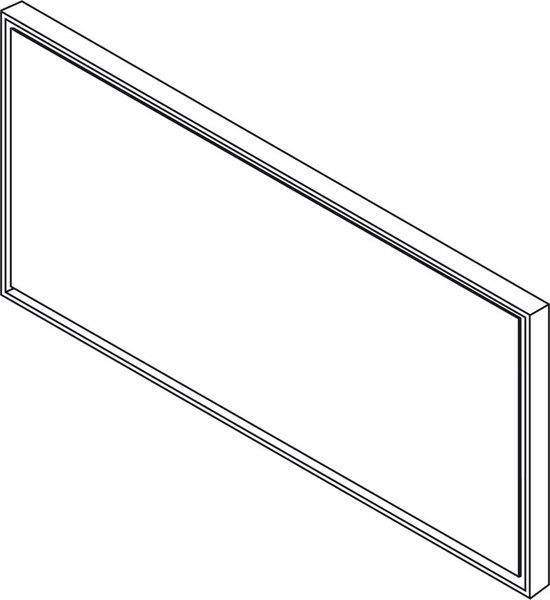 SAPHO FLOAT zrcadlo s RGB osvětlením 115x52cm, bílá 22394