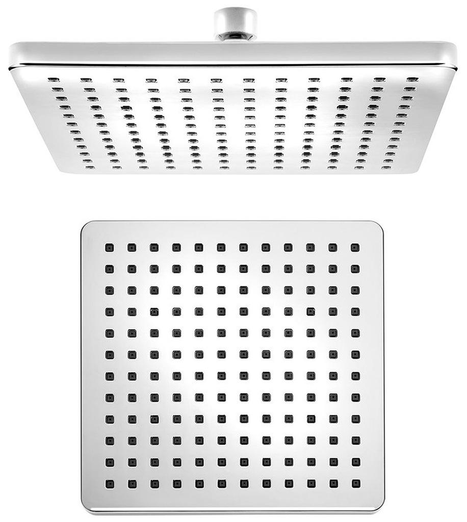 SAPHO Hlavová sprcha čtverec 216x216 mm, ABS/chrom SK816