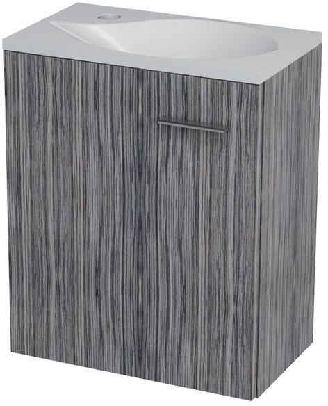 SAPHO LATUS II umyvadlová skříňka 42x50x25cm, zebráno tmavé 55581