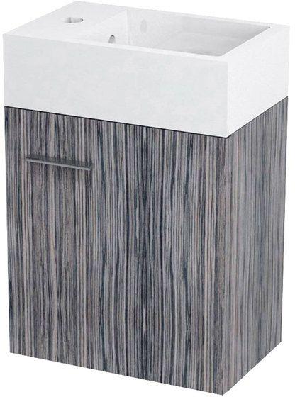 SAPHO LATUS V umyvadlová skříňka 35,6x40x23cm, zebráno tmavé LT058