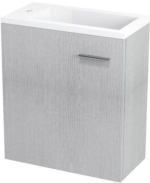SAPHO LATUS III umyvadlová skříňka 45x50x25 cm, dub stříbrný LT310