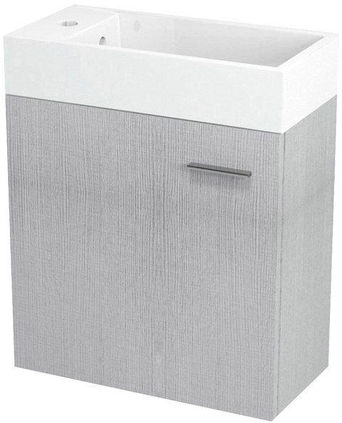 SAPHO LATUS IV umyvadlová skříňka 49,5x50x25cm, dub stříbrný LT410
