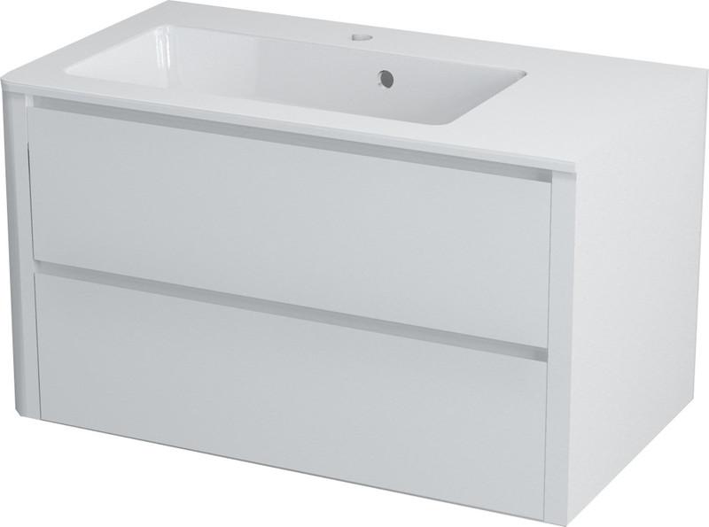 SAPHO LUCIE umyvadlová skříňka do rohu 80x45x44,5 cm, pravá, bílá LU080
