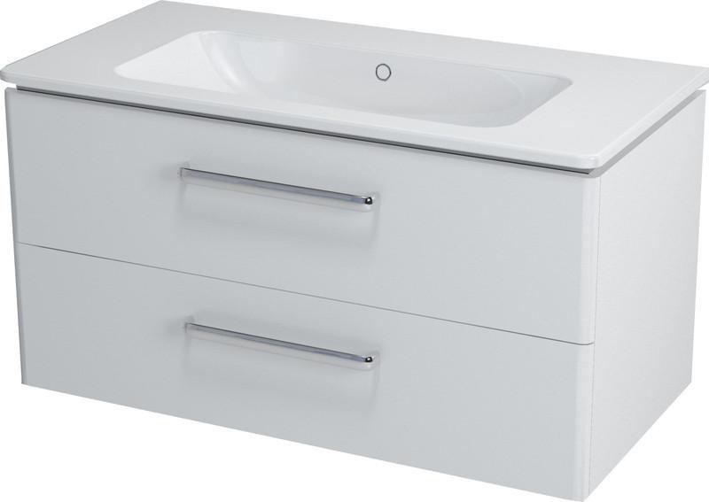 SAPHO PURA umyvadlová skříňka 99x50x48cm, bílá PR101