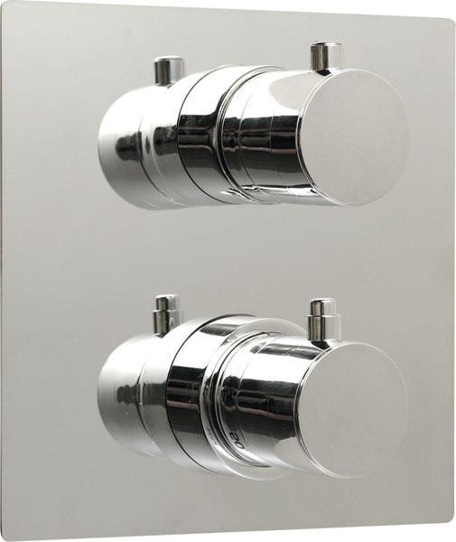 SAPHO RHAPSODY podomítková sprchová termostatická baterie, 2 výstupy, chrom 55052