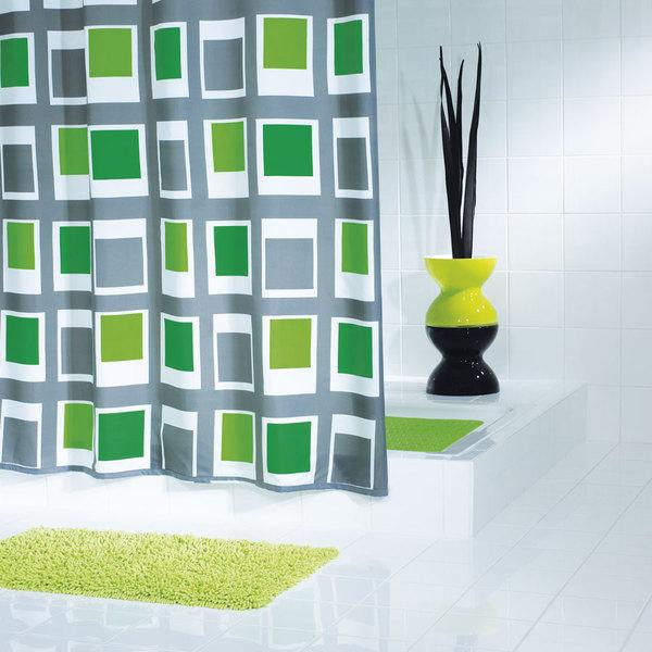 SAPHO UP DOWN sprchový závěs 180x200cm, polyester, zelená 42935