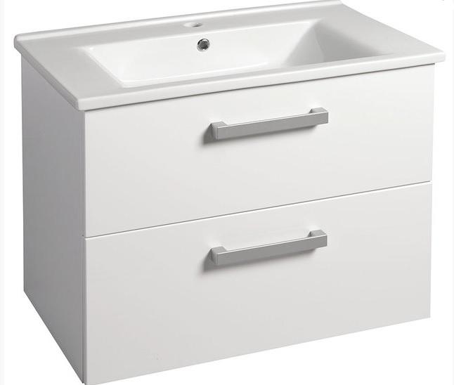 AQUALINE VEGA umyvadlová skříňka 72x57,60x43,80cm, 2xzásuvka, bílá VG073