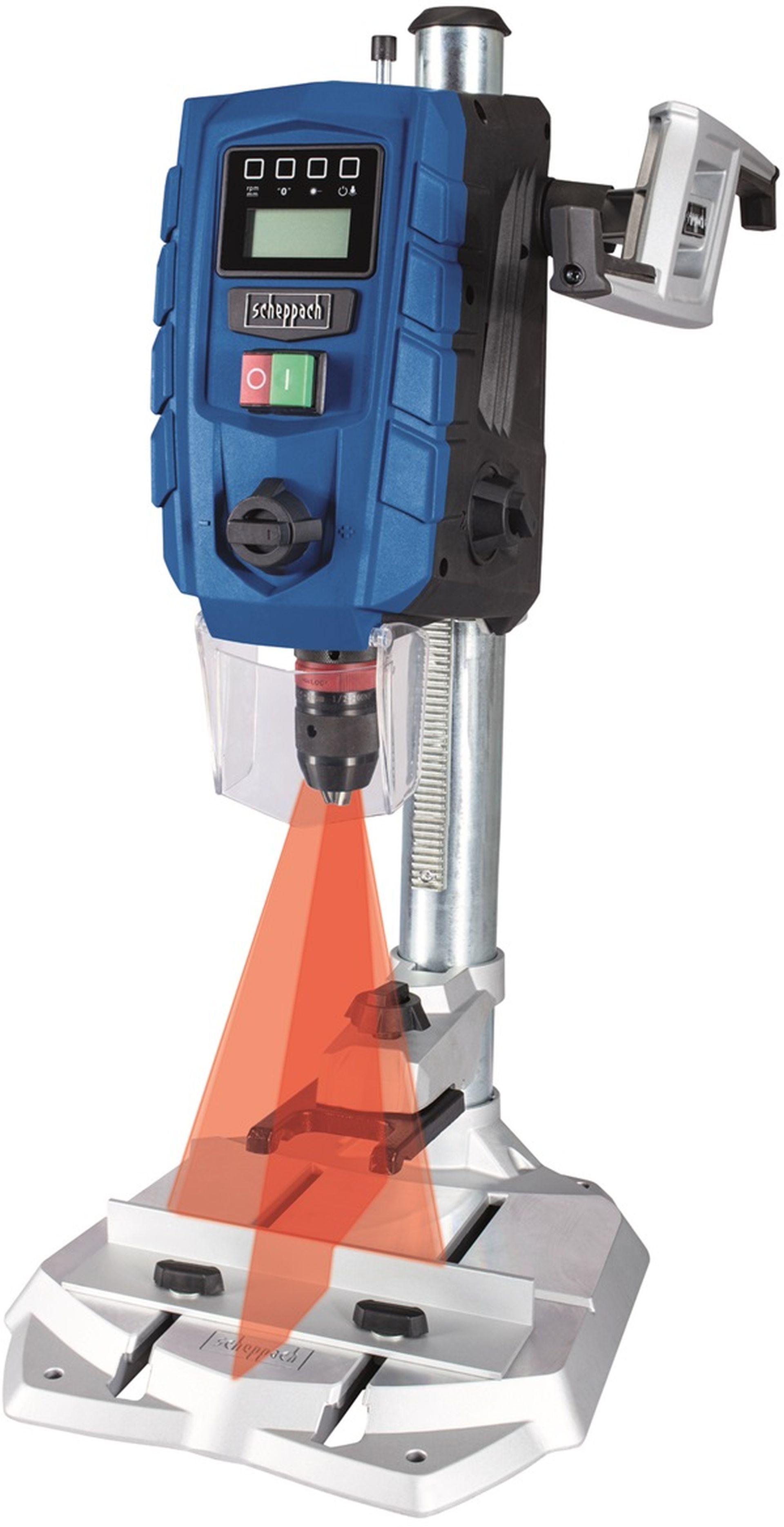 SCHEPPACH DP 60 Stojanová vrtačka s křížovým laserem a LED osvětlením 5906821901