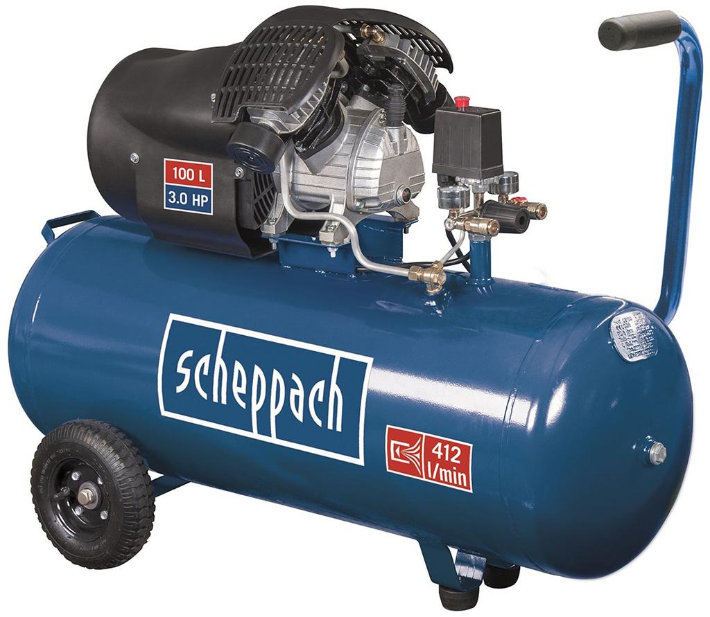 SCHEPPACH HC 120 dc olejový dvouválcový kompresor 10 bar se vzdušníkem 100 l 5906120905
