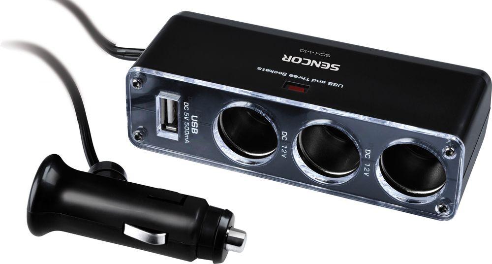 SENCOR SCH 440 USB adaptér a 3x rozbočovač 35032615